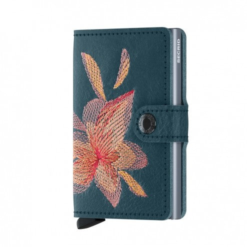 Secrid Mini Wallet Stitch Petrolio