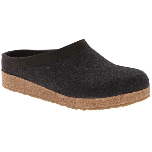 Haflinger Grizzly Wool Clog Charcoal (Unisex)