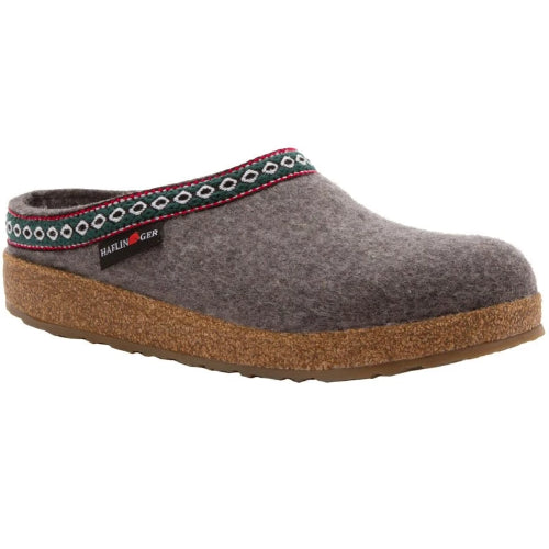 Haflinger Classic Wool Grizzly Clog Grey (Unisex)