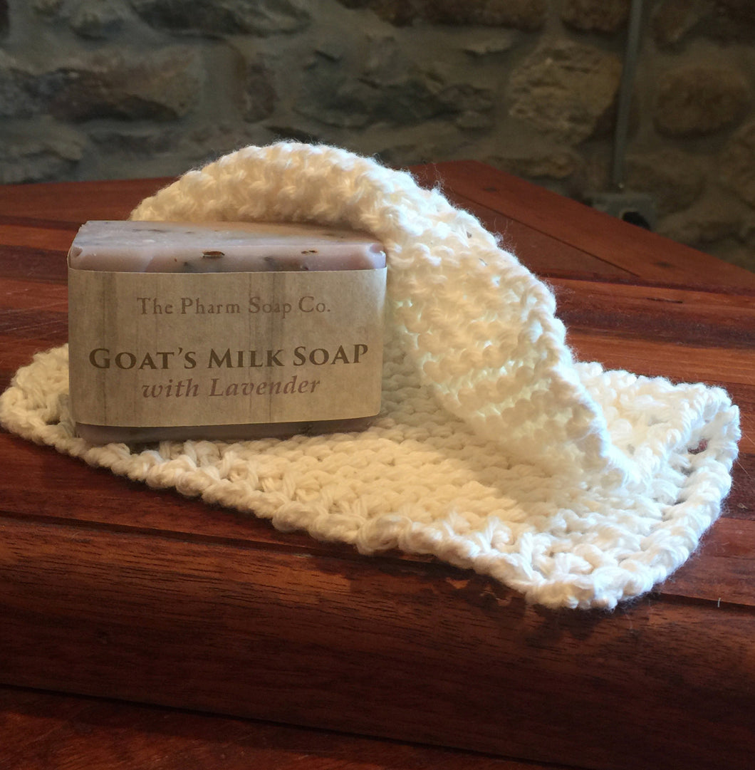 Goat's Milk Soap and Cotton Washcloth