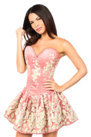 Top Drawer Coral Embroidered Corset Dress