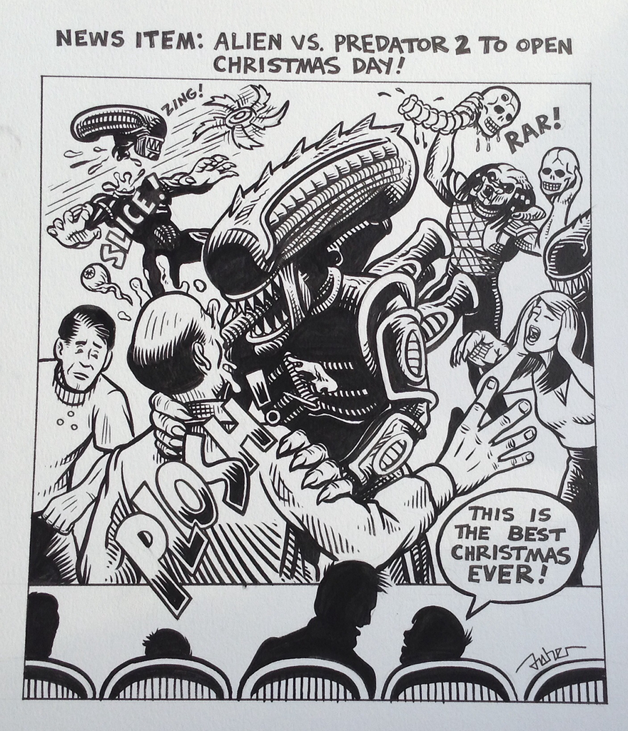 Merry Christmas from Alien and Predator!