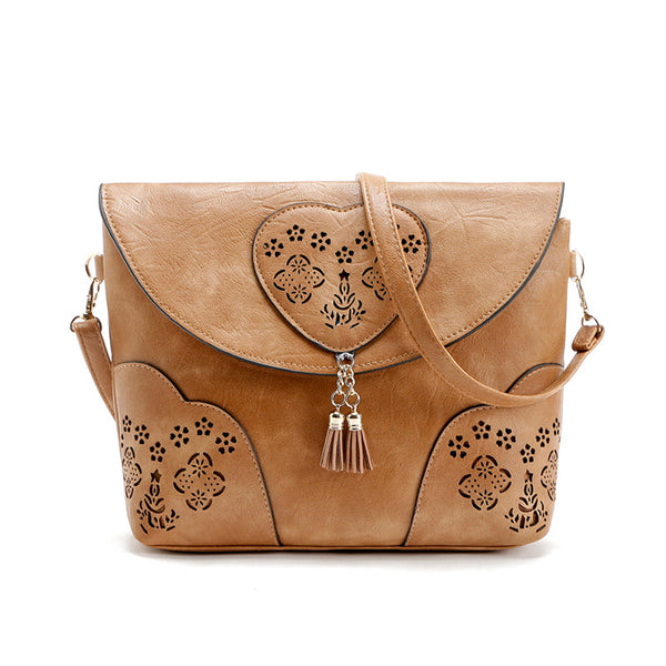 Vintage Casual Hollow Out Crossbody Bag