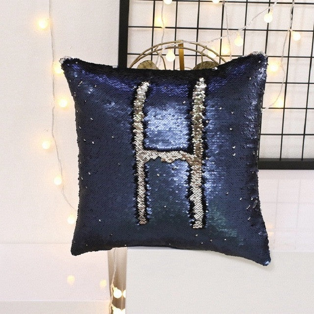 Reversible Sequin Mermaid Sequin Pillow Cover