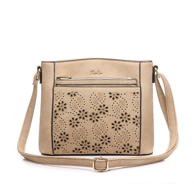 Small Shoulder Crossbody Bag Hollow Cut Flower Design