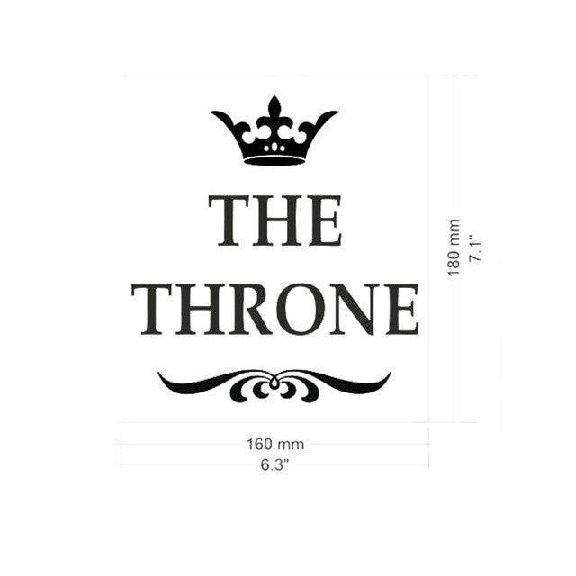 THE THRONE Funny Interesting Toilet Wall Stickers