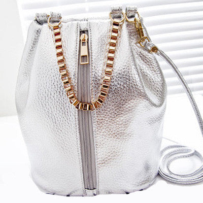 Metallic Gold Women Messenger Designer Bag