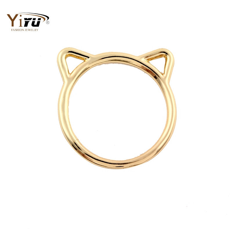 Gold Kitty Ring