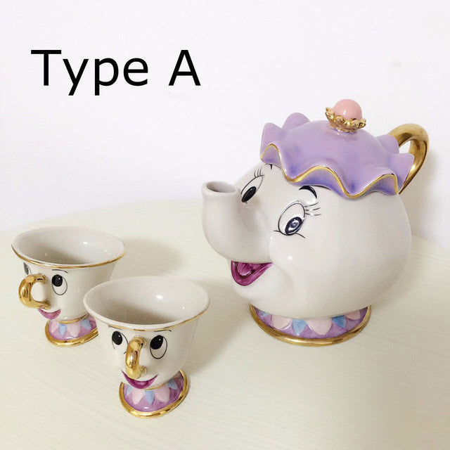 Cartoon Beauty And The Beast Mrs Potts Chip Coffee Tea Set