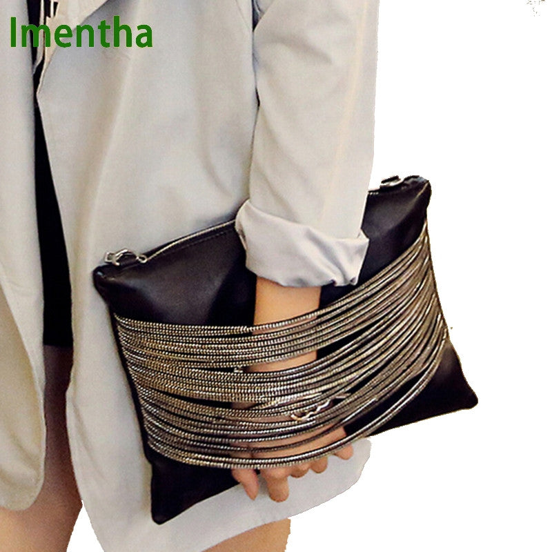 High Fashion Evening BlackLeather Clutch