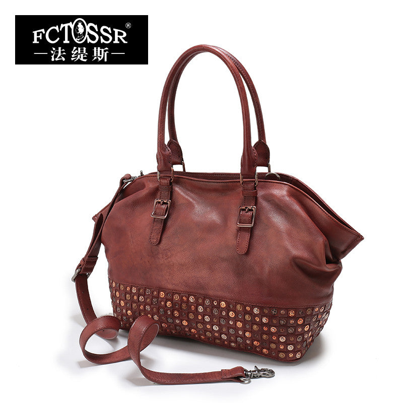 Luxury Designer Women Top Handle Leather Bag