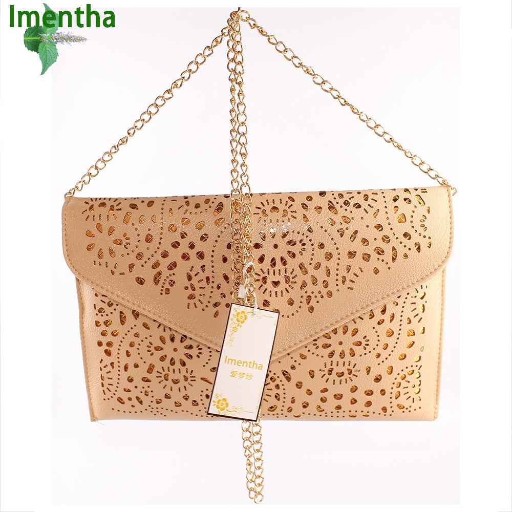 Hollow Cut Out Envelope Clutch Purse