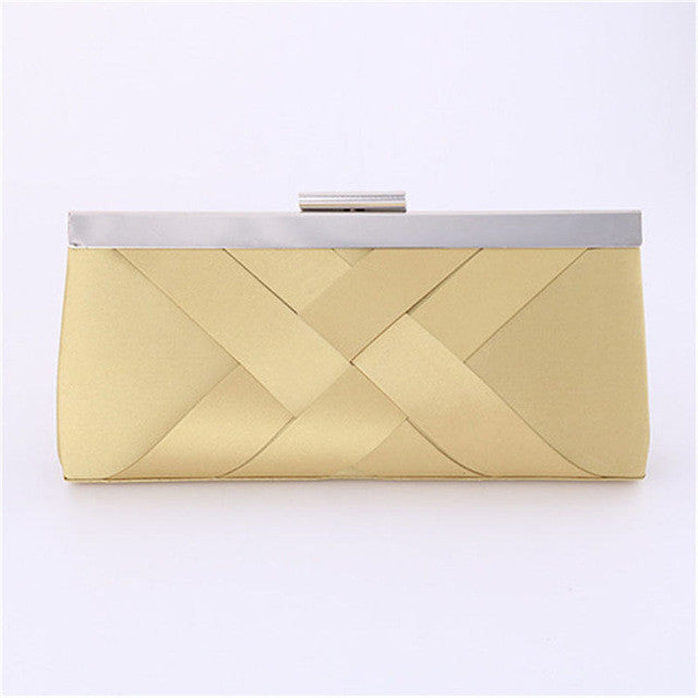 Elegant Evening Party Clutch Purse with Silver Closure