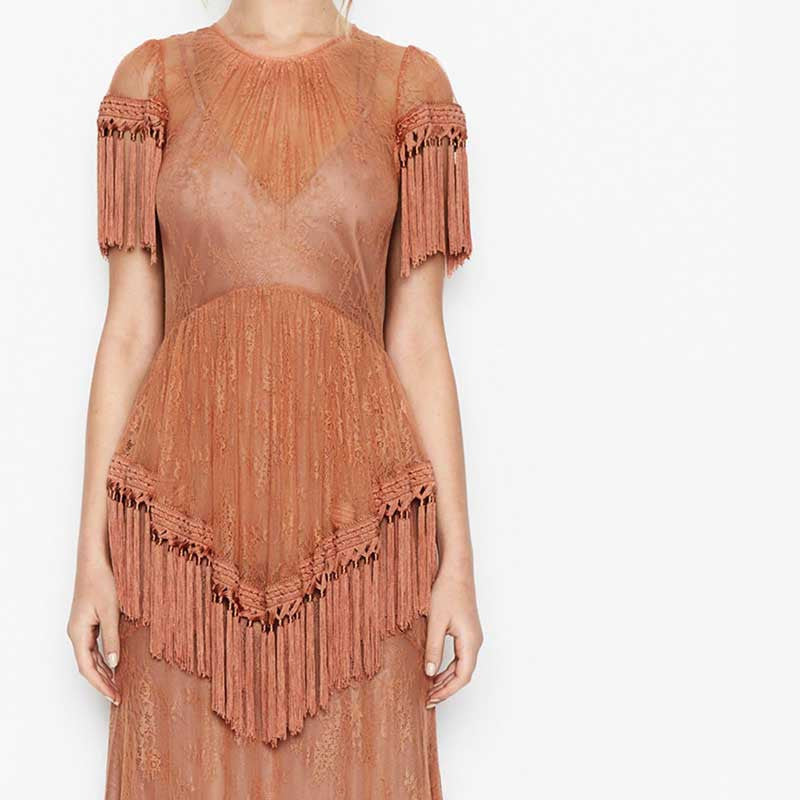 BOHO INSPIRED Tasseled Asymmetrical Long Summer Dress