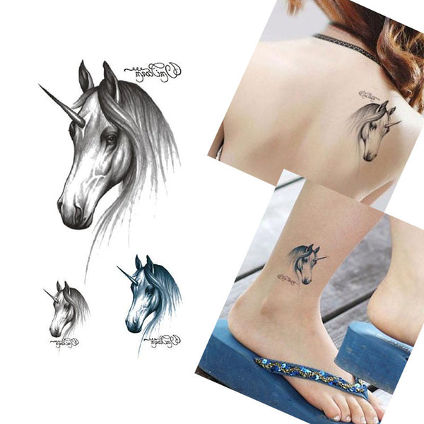 5PCS Horse  Waterproof Temporary Tattoo Sticker