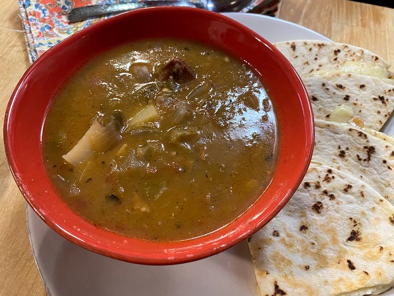 FishSki Chef Rob's Green Chile Stew