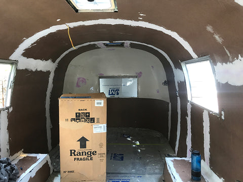 Airstream walls are up and sealed