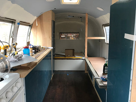 Airstream cabinets and spaces forming