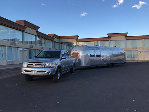 Airstream delivering it home