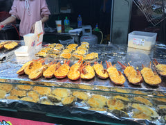 Taipei street food lobster with cheese