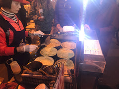 Taipei street food scallion pancake