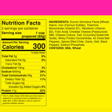 Nutrition facts for FishSki Hatch Red Chile Macaroni and Cheese