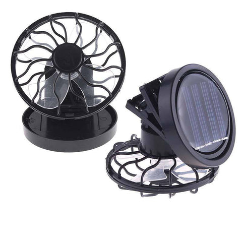 Cooler - Black Solar Power Fan Clip-on Cooler