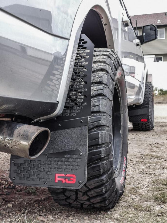 Black on Black - REK-mesh Universal Offset Mud Flaps
