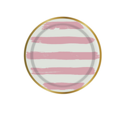 Pink Stripes Plates (mini)