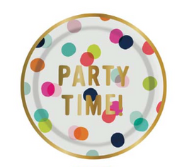 POLKA DOT CAKE PLATES, PARTY TIME