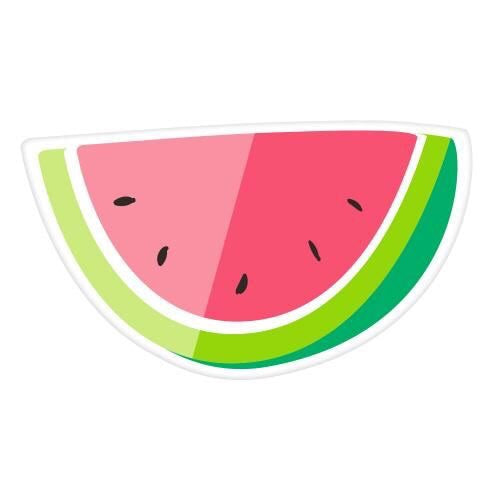 Watermelon die-cut