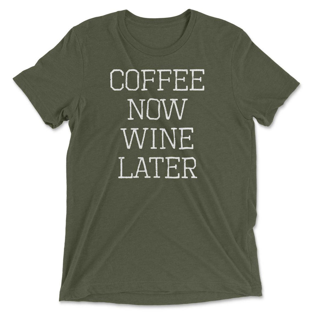 Coffee Now Wine Later Graphic Tee