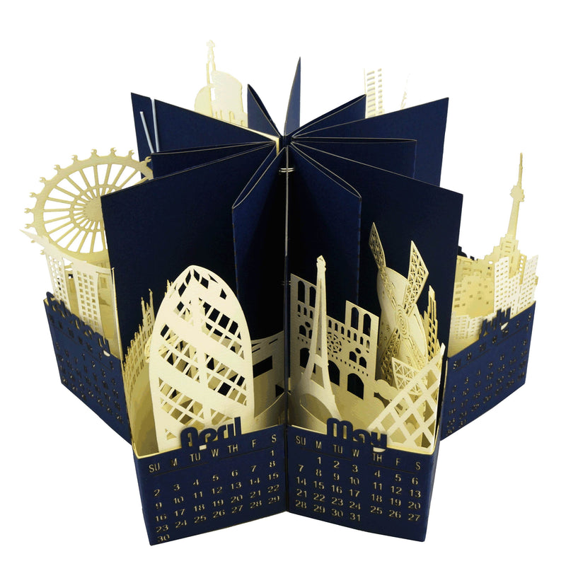 Architectural 3D Pop up 2019 calendar