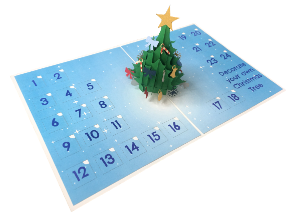 Pop Up - Christmas Tree Advent Calendar