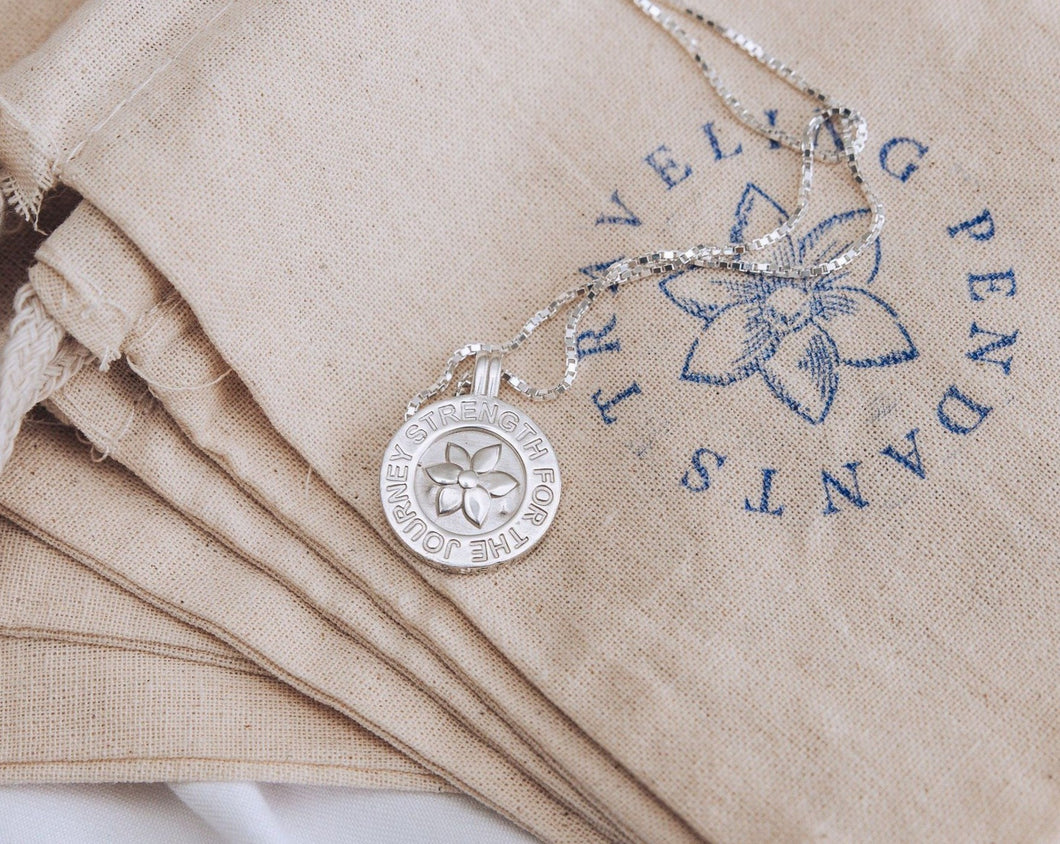 Traveling Flower Pendant (Sterling Silver)