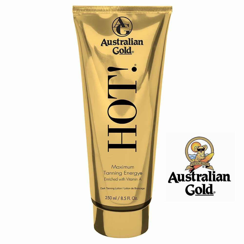 Australian Gold HOT Lotion Maximum Tanning Intensifier. 8.5oz In Store Pickup Only.