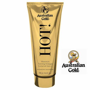 Australian Gold HOT Lotion Maximum Tanning Intensifier. 8.5oz.