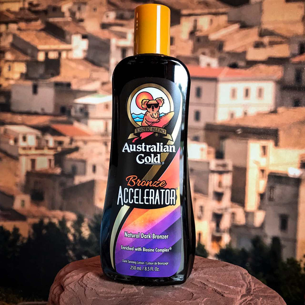 Australian Gold Dark Tanning Accelerator with Bronzer. 8.5oz