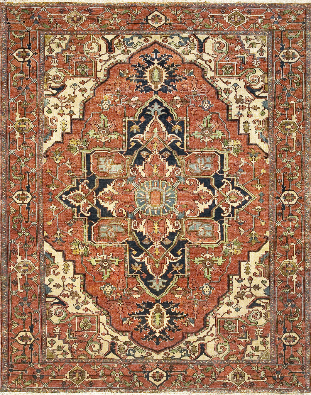 Antique Serapi Heriz 6 Red