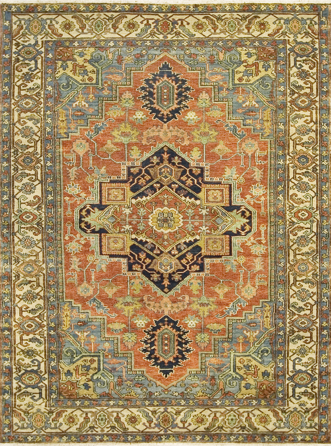 Antique Serapi Heriz 5 Red