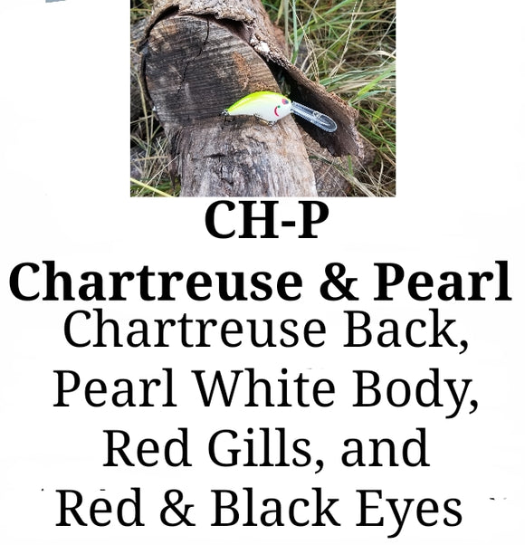 CH-P Chartreuse & Pearl LITTLE RUNT (Formely Little Earl) (depth range 7-10ft)