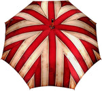 Load image into Gallery viewer, Handcrafted Umbrella - Striped Red And Cream - Shaded Colors - Malacca Wood-Handle - il-marchesato