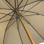 Carica l'immagine nel visualizzatore di Gallery, Classic Striped umbrella with Brown Leather handle - IL MARCHESATO LUXURY UMBRELLAS, CANES AND SHOEHORNS