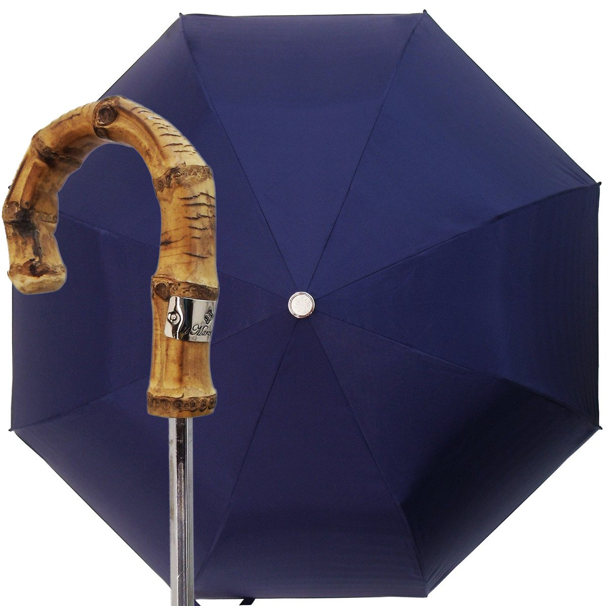 ITALIAN BLUE FOLDING MEN UMBRELLA