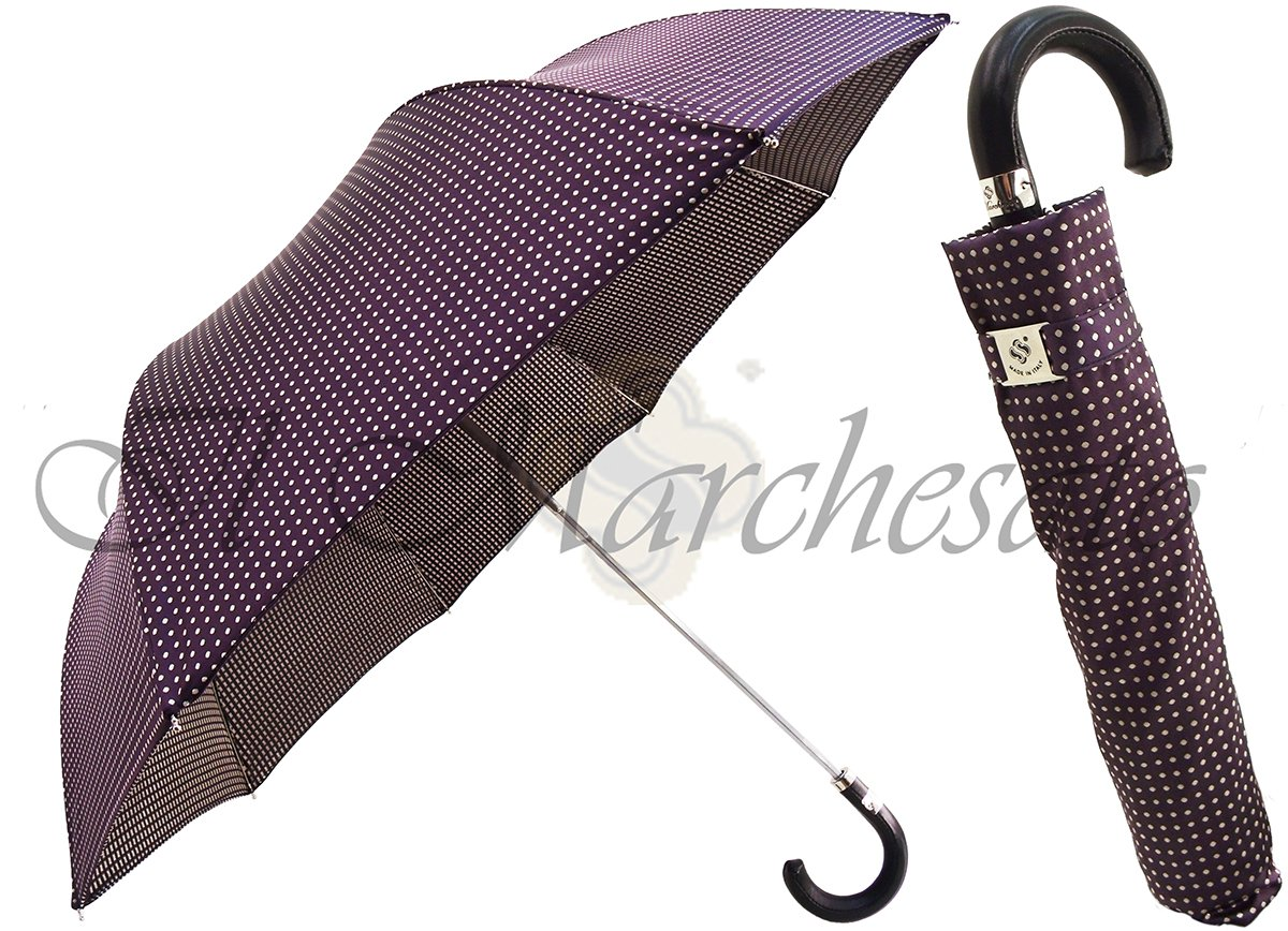 luxurious italian men's compact umbrella