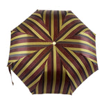 Load image into Gallery viewer, Striped Men's Umbrella with Horses and Bamboo Handle - IL MARCHESATO LUXURY UMBRELLAS, CANES AND SHOEHORNS