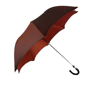 Elegant Burgundy Polka Dot Umbrella - IL MARCHESATO LUXURY UMBRELLAS, CANES AND SHOEHORNS