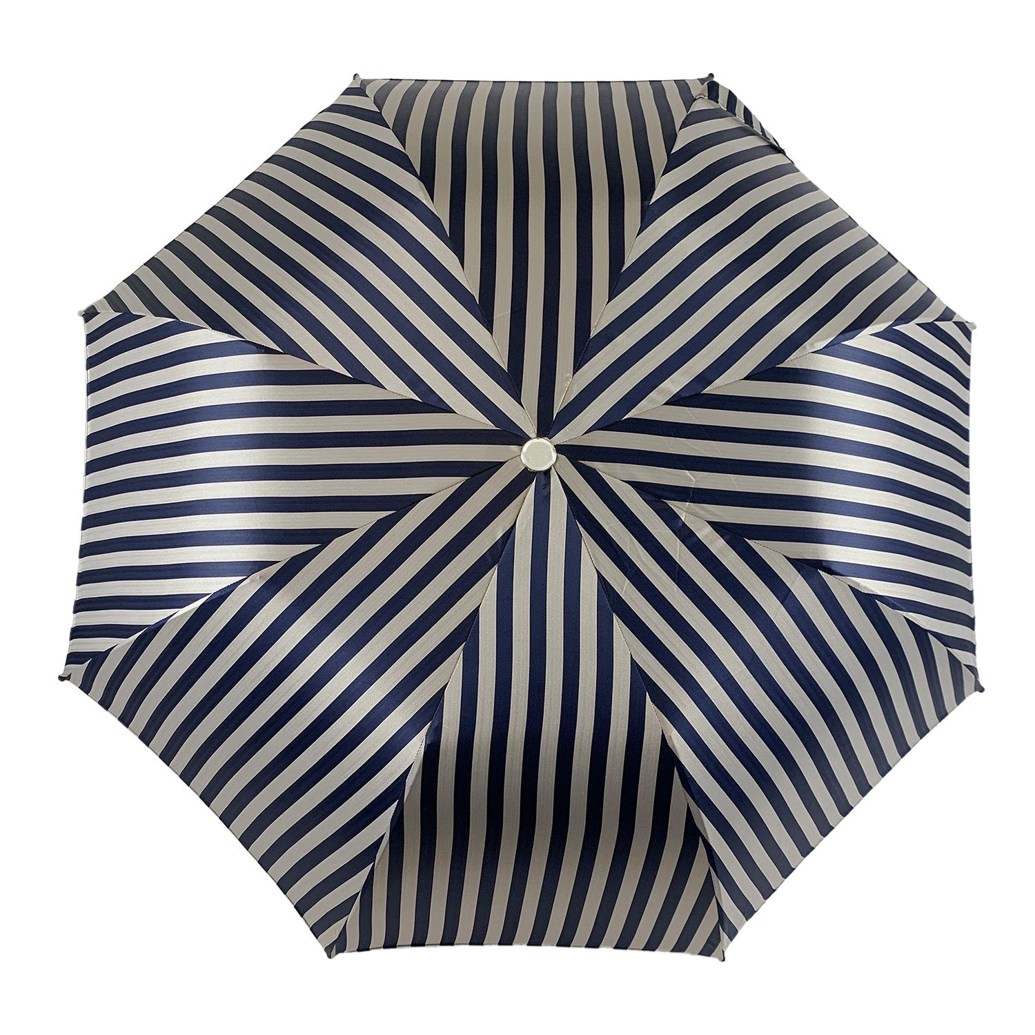 Striped Grey and Blue Men's Folding Collection - IL MARCHESATO LUXURY UMBRELLAS, CANES AND SHOEHORNS