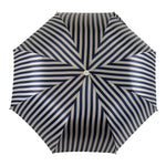 Load image into Gallery viewer, Striped Grey and Blue Men's Folding Collection - IL MARCHESATO LUXURY UMBRELLAS, CANES AND SHOEHORNS