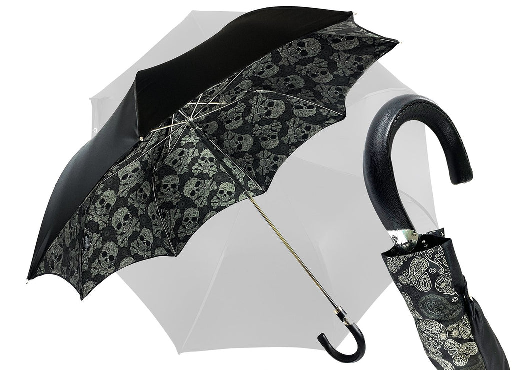 Exclusive Double color Folding Men's Umbrella - IL MARCHESATO LUXURY UMBRELLAS, CANES AND SHOEHORNS